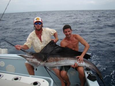 Sailfish fishing charters tours costa rica pacific coast - small