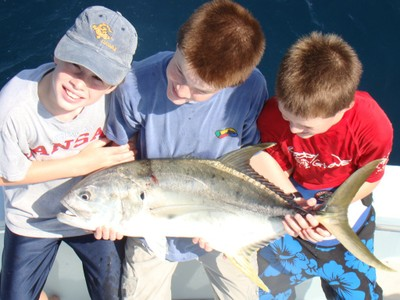 kids hold their catch fishing charter tours costa rica .jpg - small