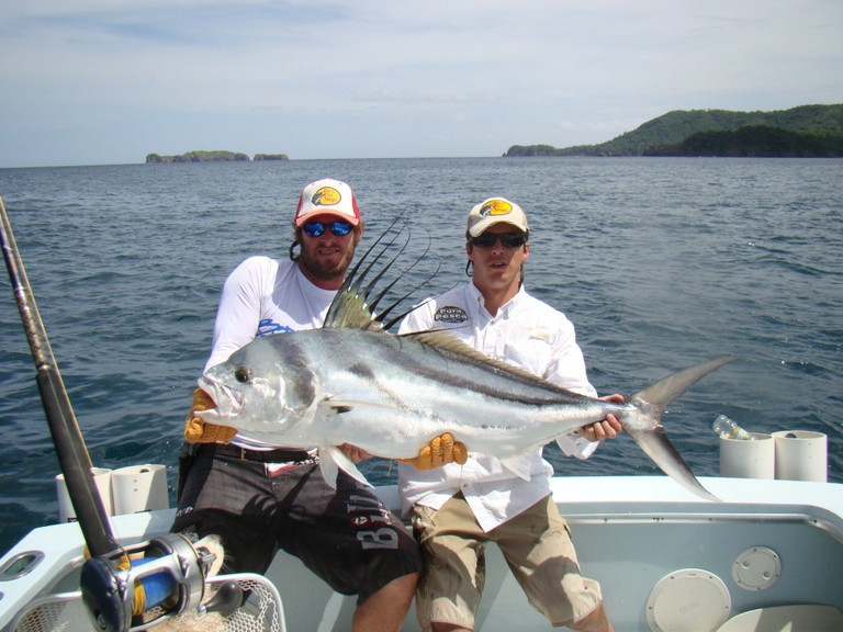 Roosterfish fishing in flamingo costa rica - big