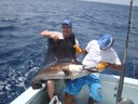 fishing charters tours costa rica pacific coast sail fish with happy fishermen - thumbnail